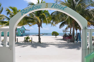 rainbow hotel caye caulker - best hotel to stay in caye caulker belize