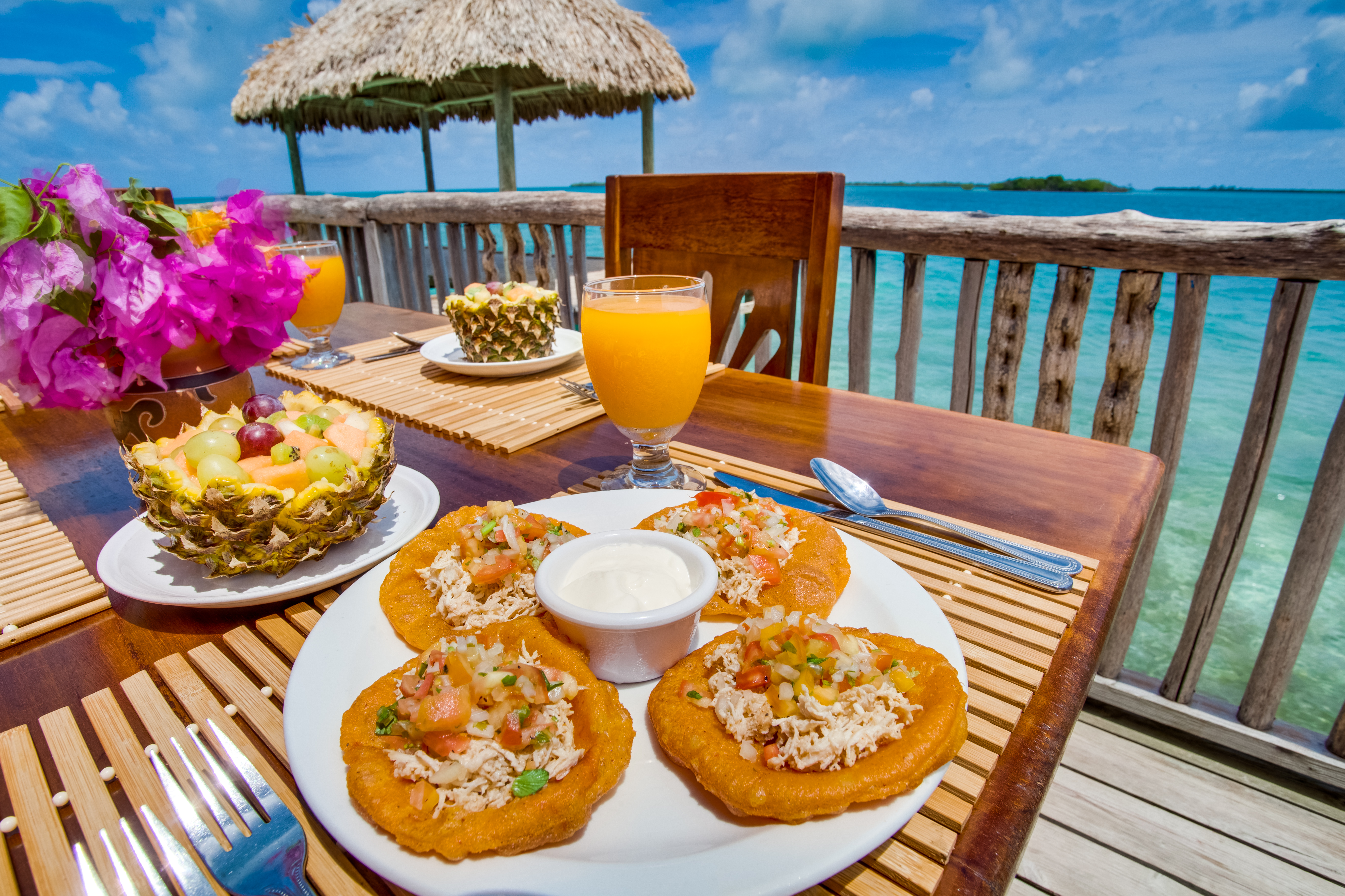 belize private island yokha resort waterfoot caye