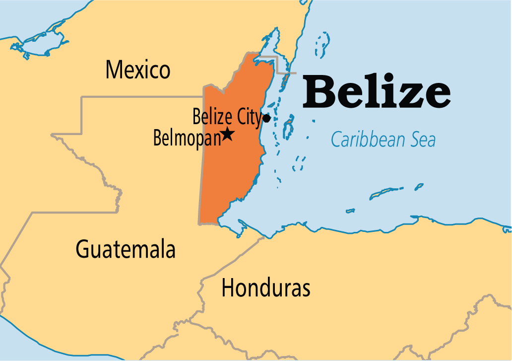 map of belize - how to get to belize