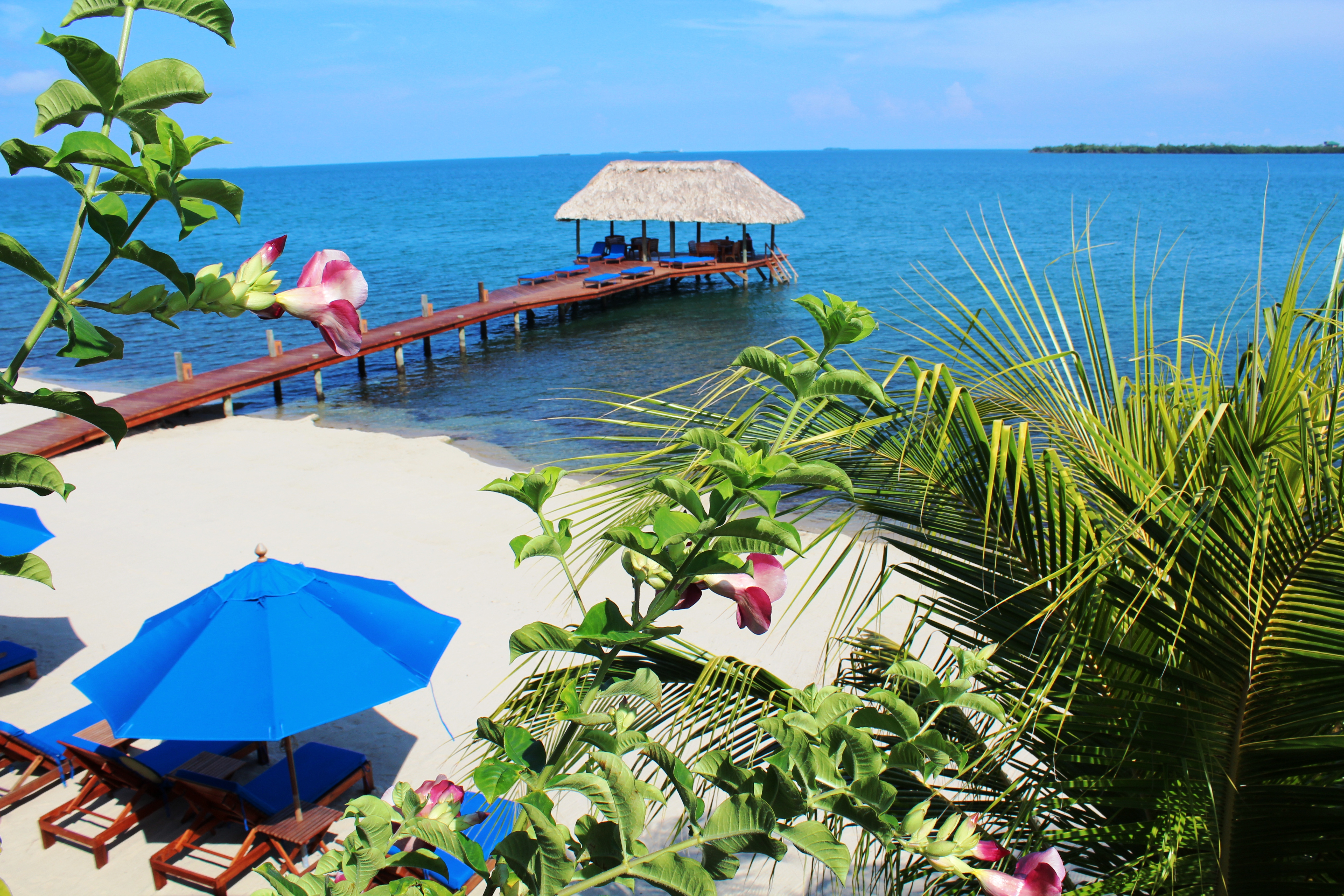 Pier with Flower Chabil Mar Resort Belize