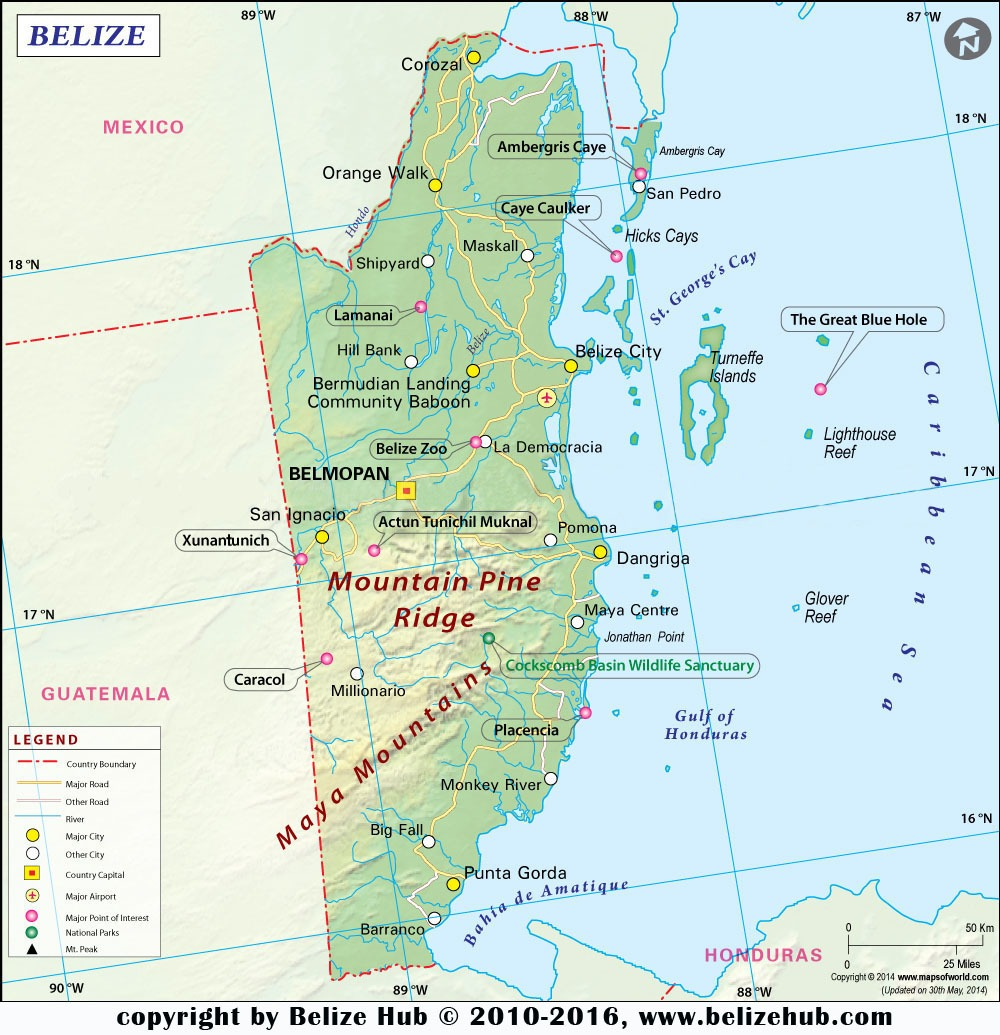 Belize Map | Map of Belize - Download Maps of Belize