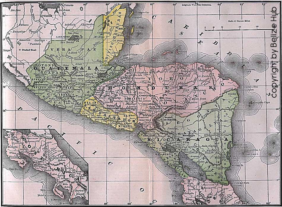 historical map of belize