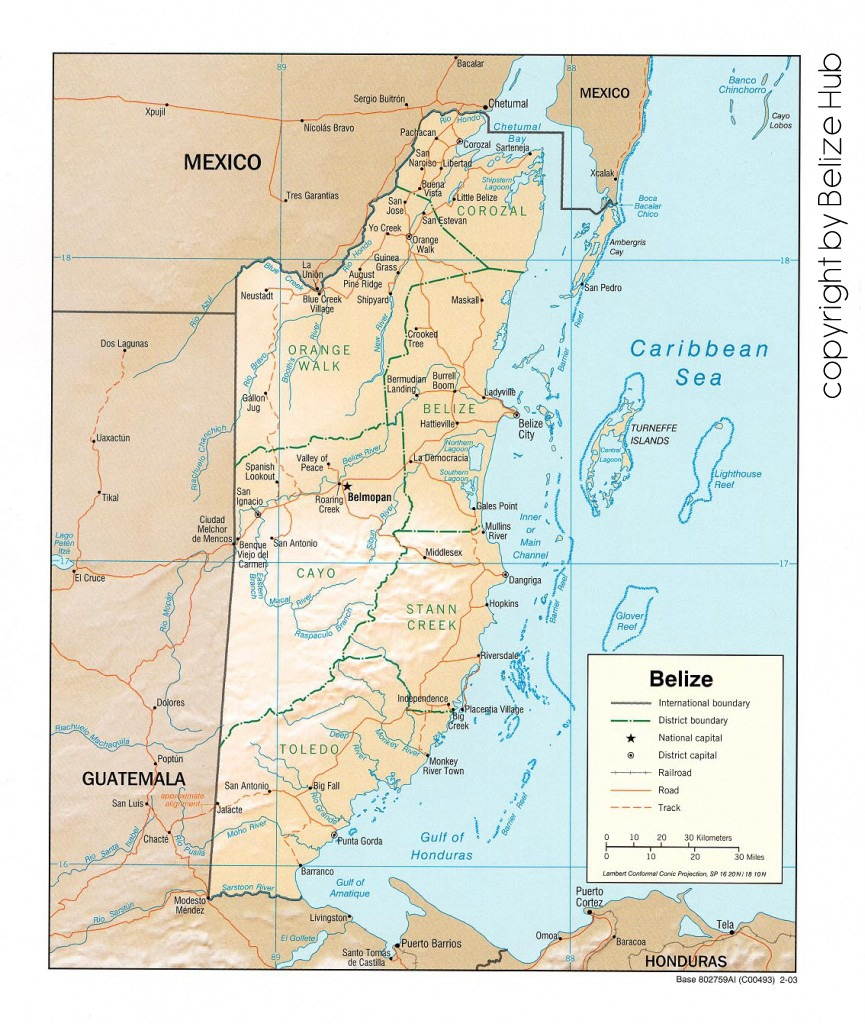 belize maps