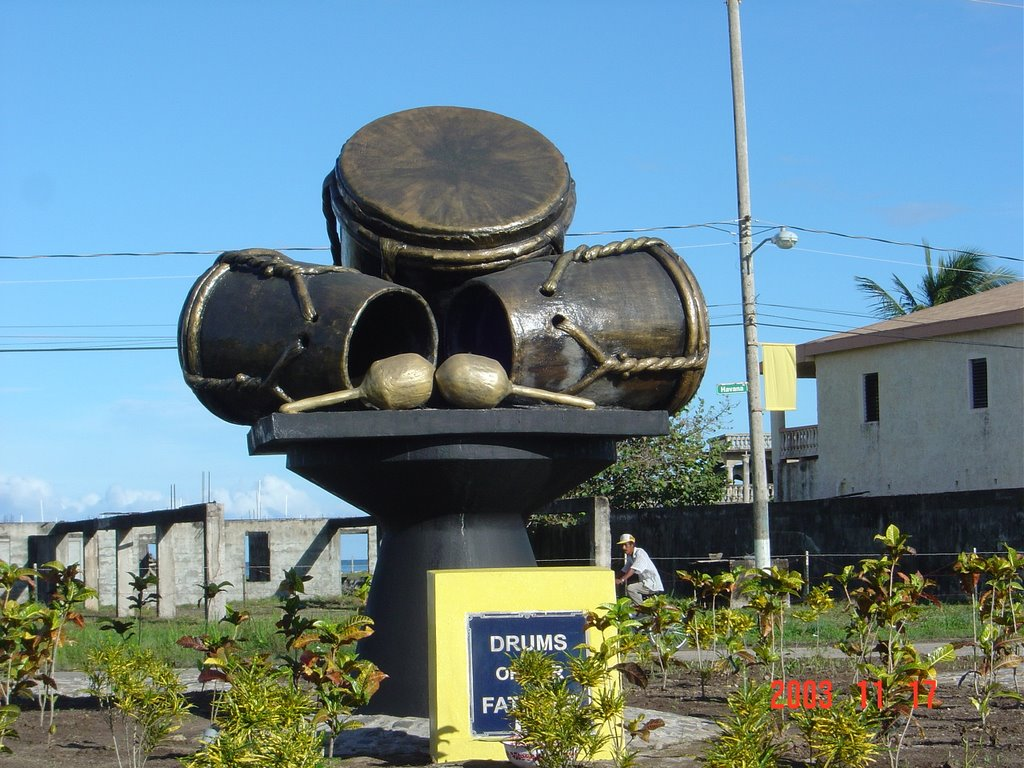 drums-of-our-father-monument-dangriga-town