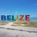 belize sign monument