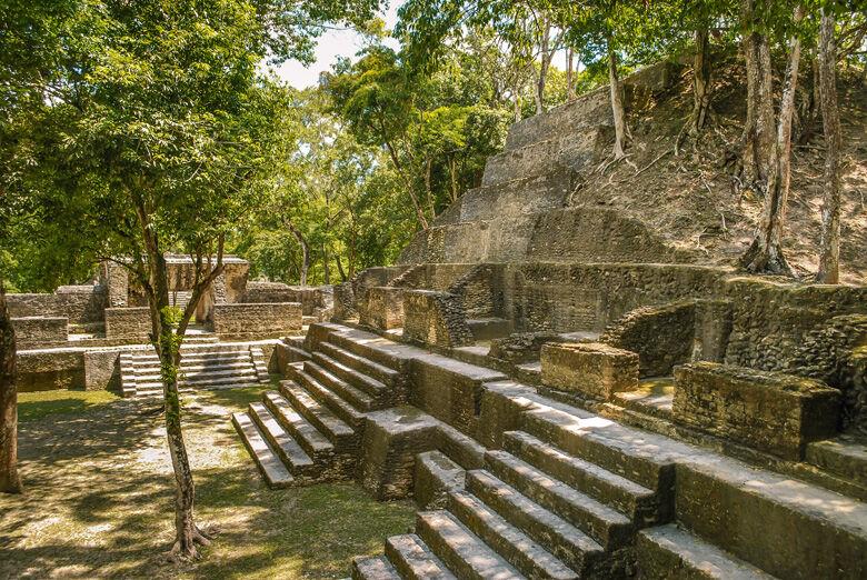 Cahal Pech Maya pyramids archaeological site, San Ignacio, Cayo Belize