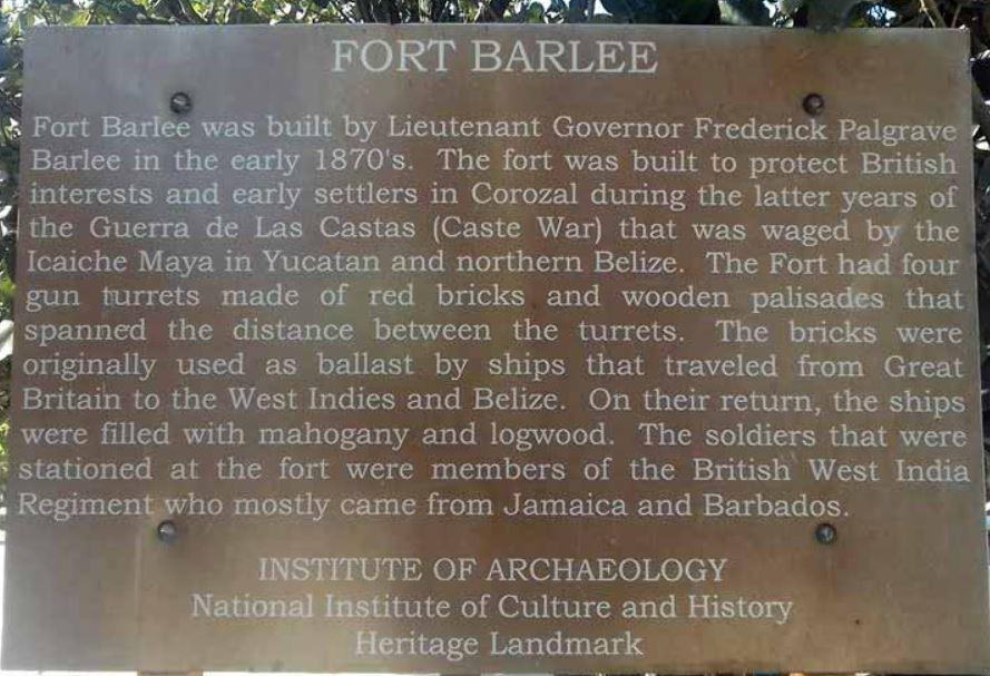Fort Barlee in Corozal, Belize